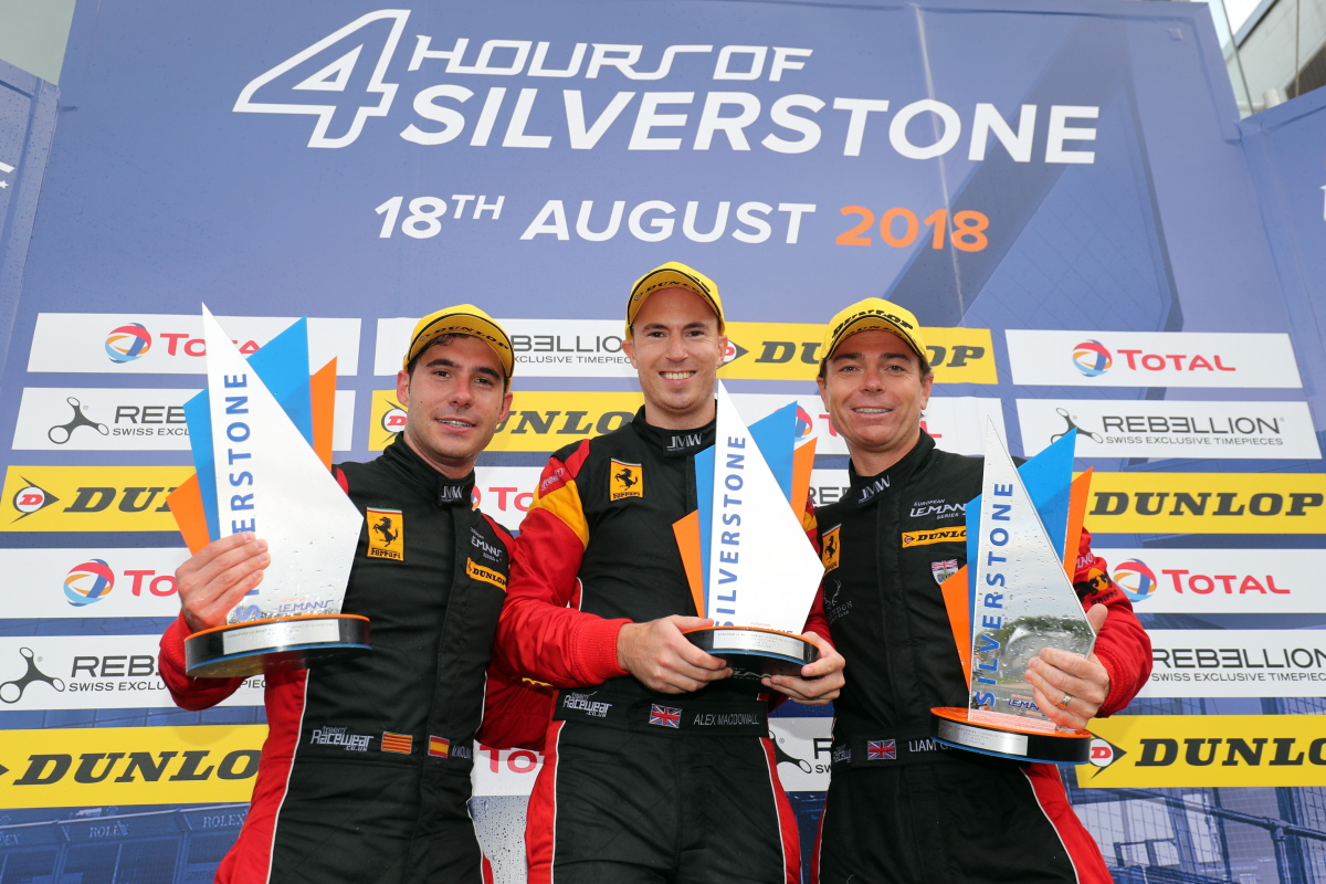 REMARKABLE WIN FOR MACDOWALL & JMW AT SILVERSTONE REIGNITES ELMS LMGTE TITLE CHALLENGE
